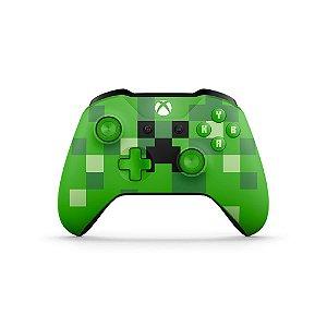 Controle Microsoft Minecraft Creeper sem fio - Xbox One S