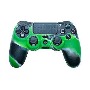 Capa de Silicone Camuflagem Verde Escuro para Controle Dualshock 4 - PS4
