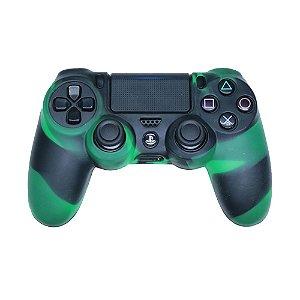 Capa de Silicone Camuflagem Verde Claro para Controle Dualshock 4 - PS4