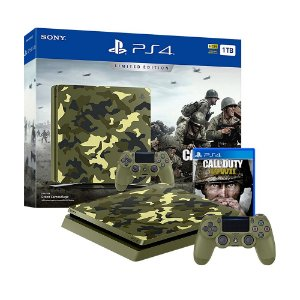 Console PlayStation 4 Slim 1TB + Call of Duty: World War II (Limited Edition) - Sony