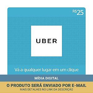 Cartão Presente Uber Brasil R$25