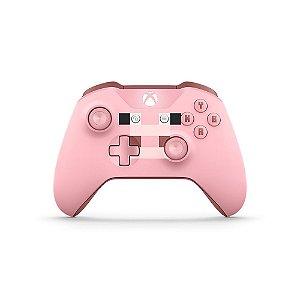 Controle Microsoft Minecraft Pig (Porco) sem fio - Xbox One S