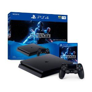 Console PlayStation 4 Slim 1TB + Jogo Star Wars Battlefront II - Sony