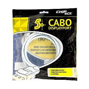 Cabo DisplayPort 3m Branco - ChipSCE