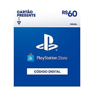 Cartão Presente Playstation Store R$60 Brasil- Sony