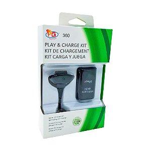 Bateria e Carregador Play Game Play & Charge - Xbox 360