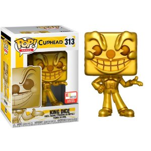 Boneco King Dice 313 Cuphead - Funko Pop