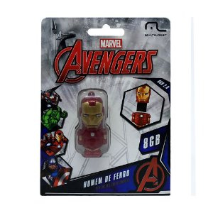 Pen Drive Multilaser The Avengers: Homem de Ferro 8GB – PC e Mac
