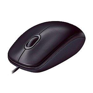 Mouse Logitech M90 1000dpi Preto com fio