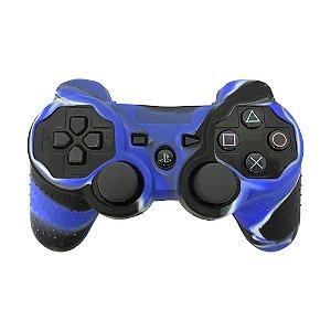 Capa de Silicone Camuflagem Azul/Preto para Controle Dualshock 3 - PS3