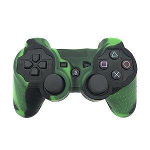 Capa de Silicone Camuflagem Verde Escuro/Preto para Controle Dualshock 3 - PS3