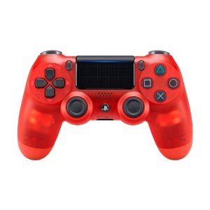 Controle Sony Dualshock 4 Crystal Red sem fio (Com led frontal) - PS4