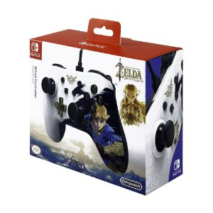 Controle PowerA com fio (Zelda: Breath of the Wild Edition) - Switch