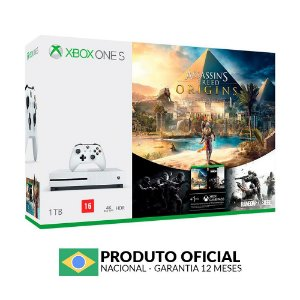 Console Xbox One S 1TB + Assassin's Creed Origins + Rainbow Six Siege - Microsoft