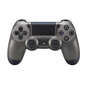 Controle Sony Dualshock 4 Steel Black sem fio (Com led frontal) - PS4