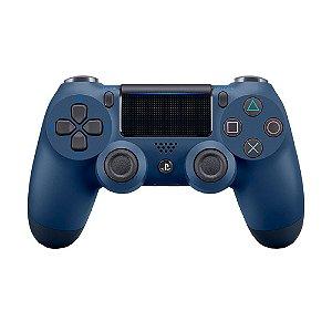 Controle Sony Dualshock 4 Azul Midnight sem fio (Com led frontal) - PS4
