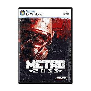 Jogo Metro 2033 - PC