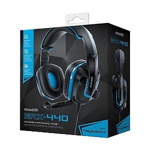Headset dreamGEAR GRX-440 Preto e Azul com Fio - Multiplataforma