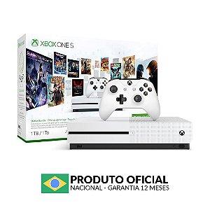 Console Xbox One S 1TB (Pacote de Iniciação) - Microsoft
