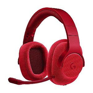 Headset Gamer Logitech G433 7.1 Vermelho com fio - Multiplataforma