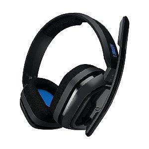 Headset Gamer Astro A10 Preto e Azul com fio - Multiplataforma