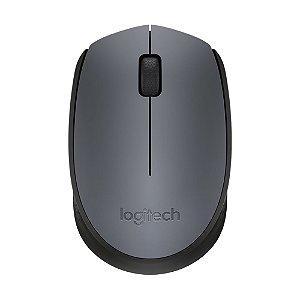 Mouse Logitech M170 Preto e Cinza sem fio