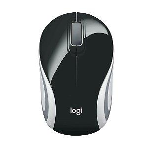 Mini Mouse Logitech M187 Preto sem fio