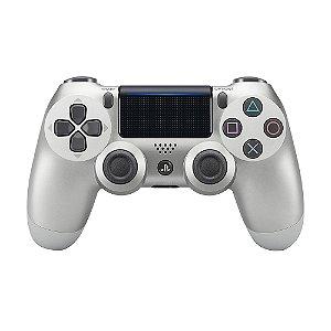 Controle Sony Dualshock 4 Silver sem fio (Com led frontal) - PS4