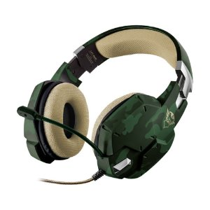 Headset Gamer Trust Carus Jungle Camo com fio - Multiplataforma
