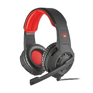 Headset Gamer Trust Radius Preto com fio - Multiplataforma