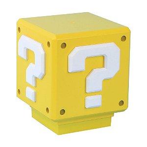 Luminária Sonora Mini Question Block Light Super Mario - Paladone