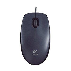 Mouse Logitech M100 Preto com fio