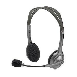 Headset Logitech H111 Stereo com fio - PC