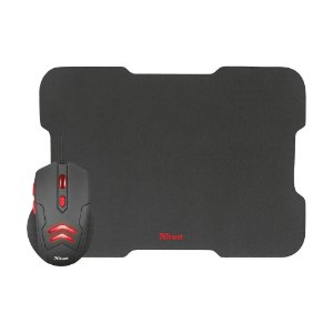 Kit Gamer Trust Mouse Ziva 3000dpi com fio e Mousepad