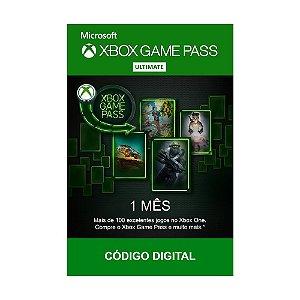 Cartão Xbox Game Pass Ultimate 1 Mês - Microsoft