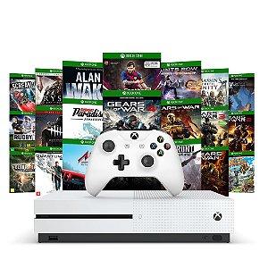 Console Xbox One S 1TB + 20 Jogos - Microsoft