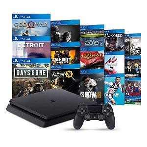 Console PlayStation 4 Slim 1TB + 15 Jogos - Sony