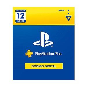 PlayStation Plus: 12 Meses de Assinatura - Digital [Exclusivo Brasil]