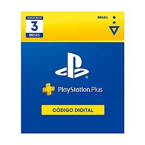 Cartão Digital PS Plus 3 Meses - Sony