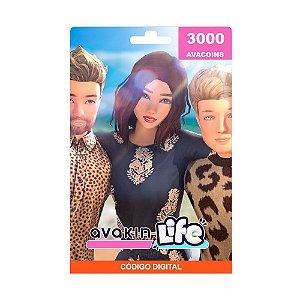 Cartão Presente Avakin Life 3000 Avacoins