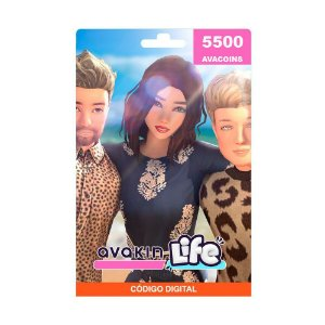 Cartão Presente Avakin Life 5500 Avacoins