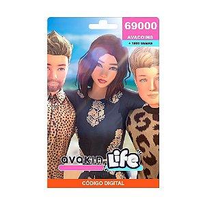 Cartão Presente Avakin Life 69000 Avacoins + 1000 Gemas
