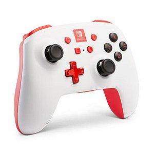Controle PowerA sem fio Branco e Vermelho - Switch