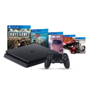 Console PlayStation 4 Slim 1TB + 5 Jogos - Sony