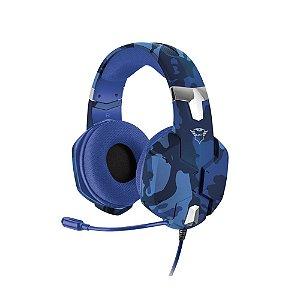 Headset Gamer Trust GXT Carus Blue Camo com fio - PS4