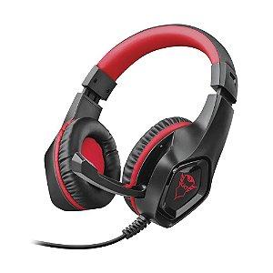 Headset Gamer Trust GXT Rana Preto e Vermelho com fio - Switch