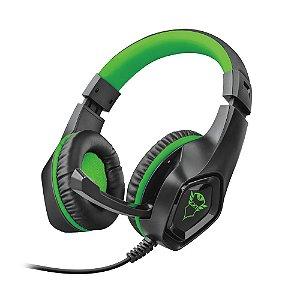 Headset Gamer Trust GXT Rana Preto e Verde com fio - Xbox One