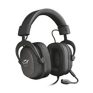 Headset Gamer Trust GXT Zamak Preto com fio - Multiplataforma