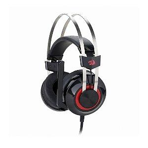 Headset Gamer Redragon Talos Preto e Vermelho com fio - PC