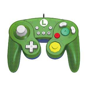 Controle Gamecube Hori Luigi (Edição Super Mario) com fio - Switch